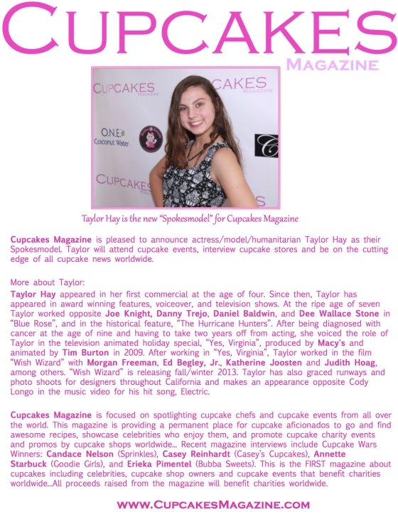 Taylor Hay One sheet - Cupcakes Magazine