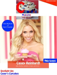 Cupcakes magazine front page-Casey Reinhardt JuneJuly