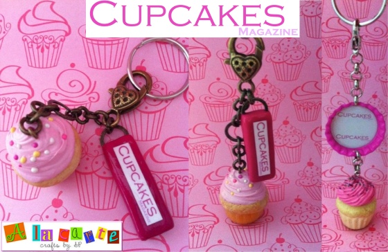Cupcakes Magazine promo key chains-2