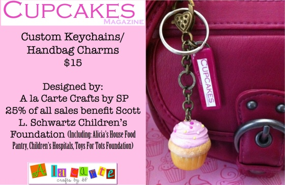 Cupcakes Magazine promo key chains-3